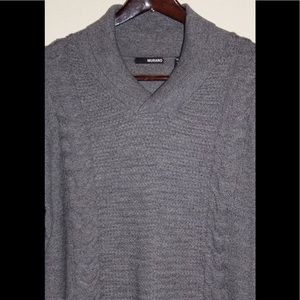 NWT $95 Murano Cable Diamond Shawl Collar Sweater